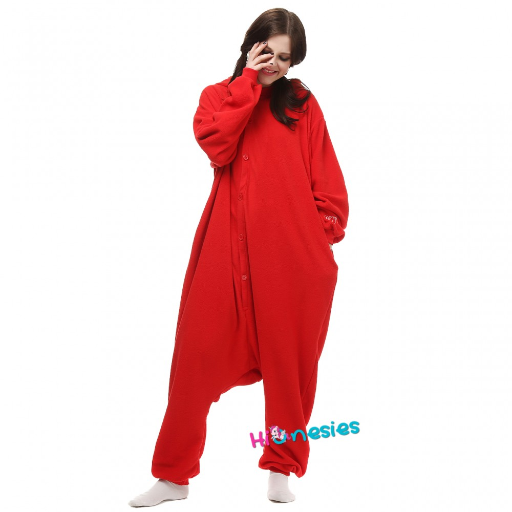 Red Cookie Monster Onesie Red Cookie Monster Pajamas For