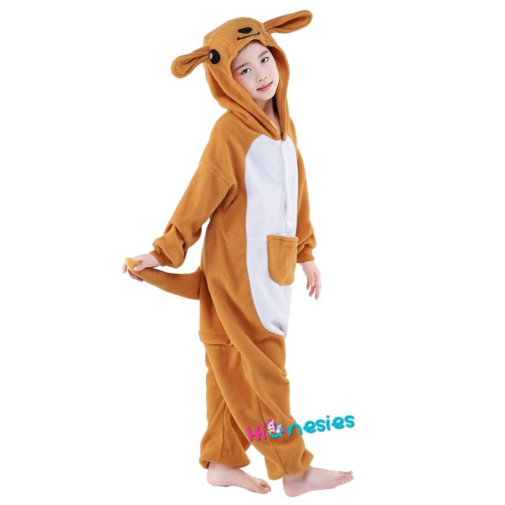 Kangaroo Onesie For Kid Animal Kigurumi Pajama Halloween