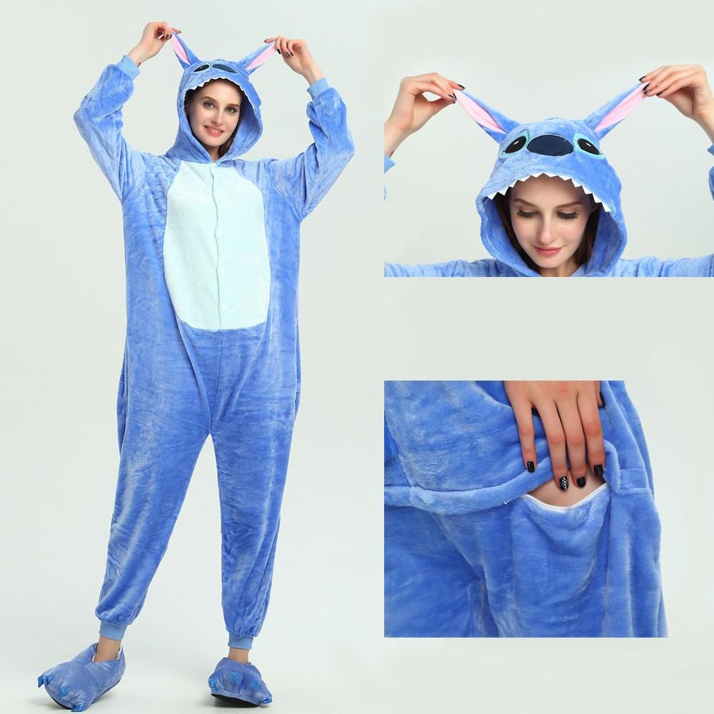 b8b518ae948d Stitch Onesie Kigurumi Pajamas Disney Party Halloween Costumes