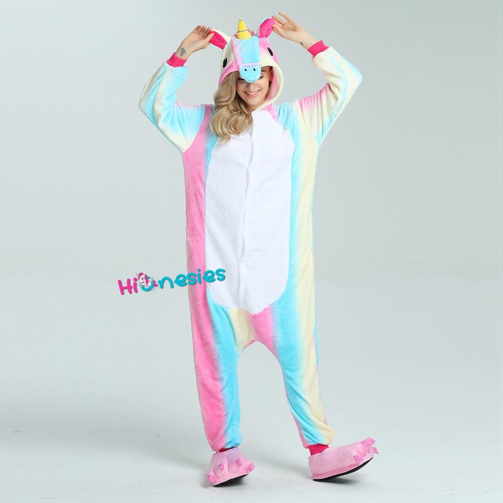 Loading ... Colorful Unicorn Onesie for Adult Animal Pajama Kigurumi  Halloween Party Costumes · Colorful Unicorn Onesie for Adult Animal ... c5f5027f1