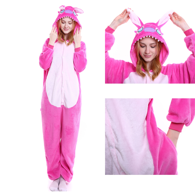 Angel Stitch Onesie for Adult Disney Kigurumi Pajamas Party Halloween  Costumes 4e9d43662