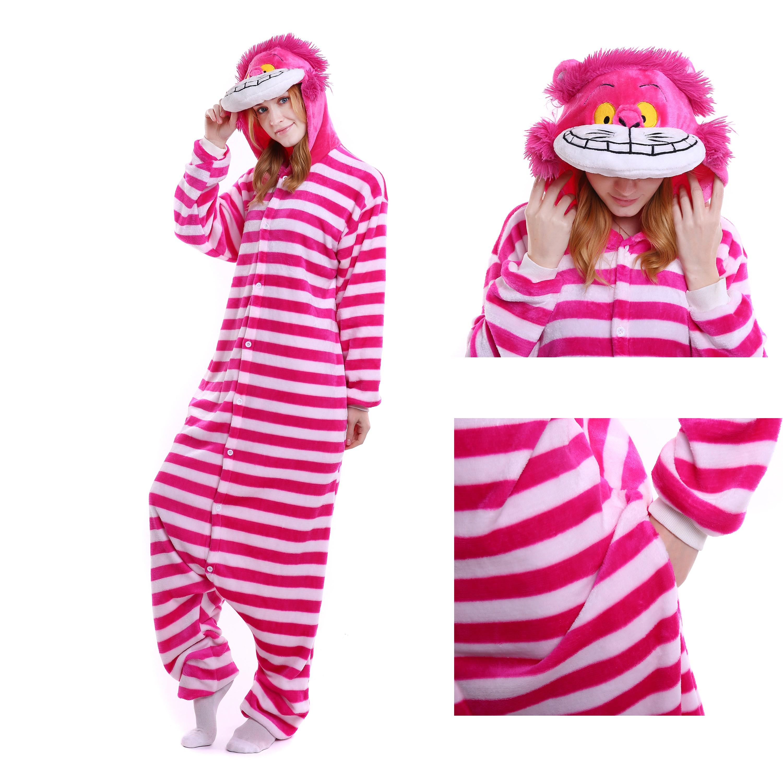 e8b1f63a055b Cheshire Cat Onesie for Adult Kigurumi Pajama Halloween Costumes