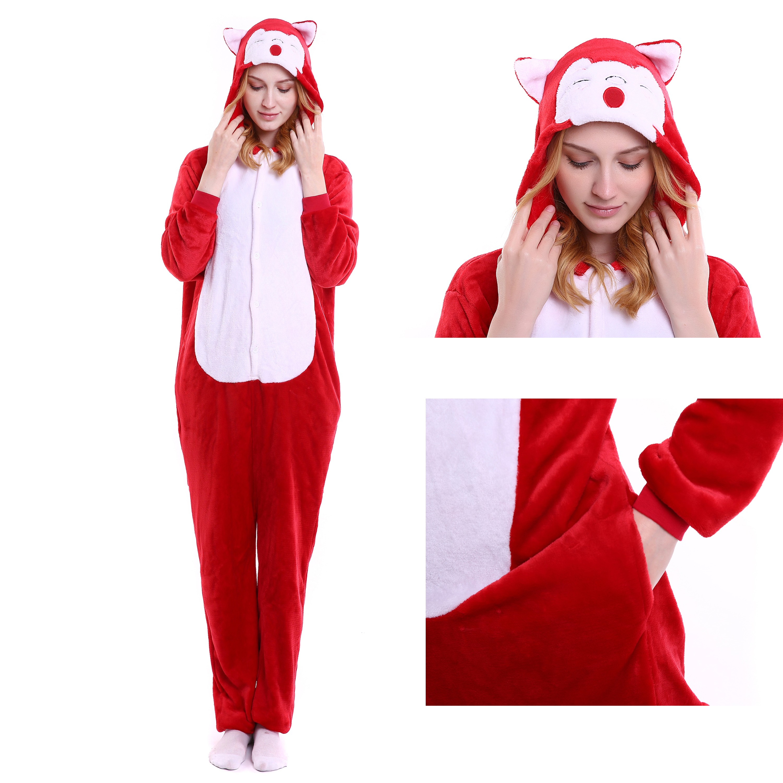 f8b80b162d Ali Fox Onesie Animal Kigurumi Pajama Women   Men Halloween Party Costumes