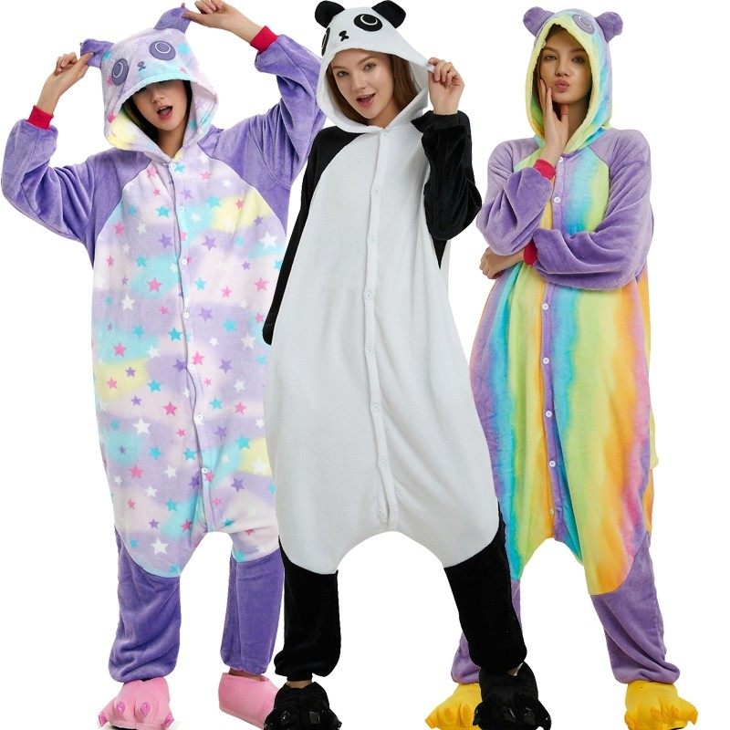 cb6ecd82be39 Panda Onesie for Adult Kigurumi Animal Pajamas Costumes