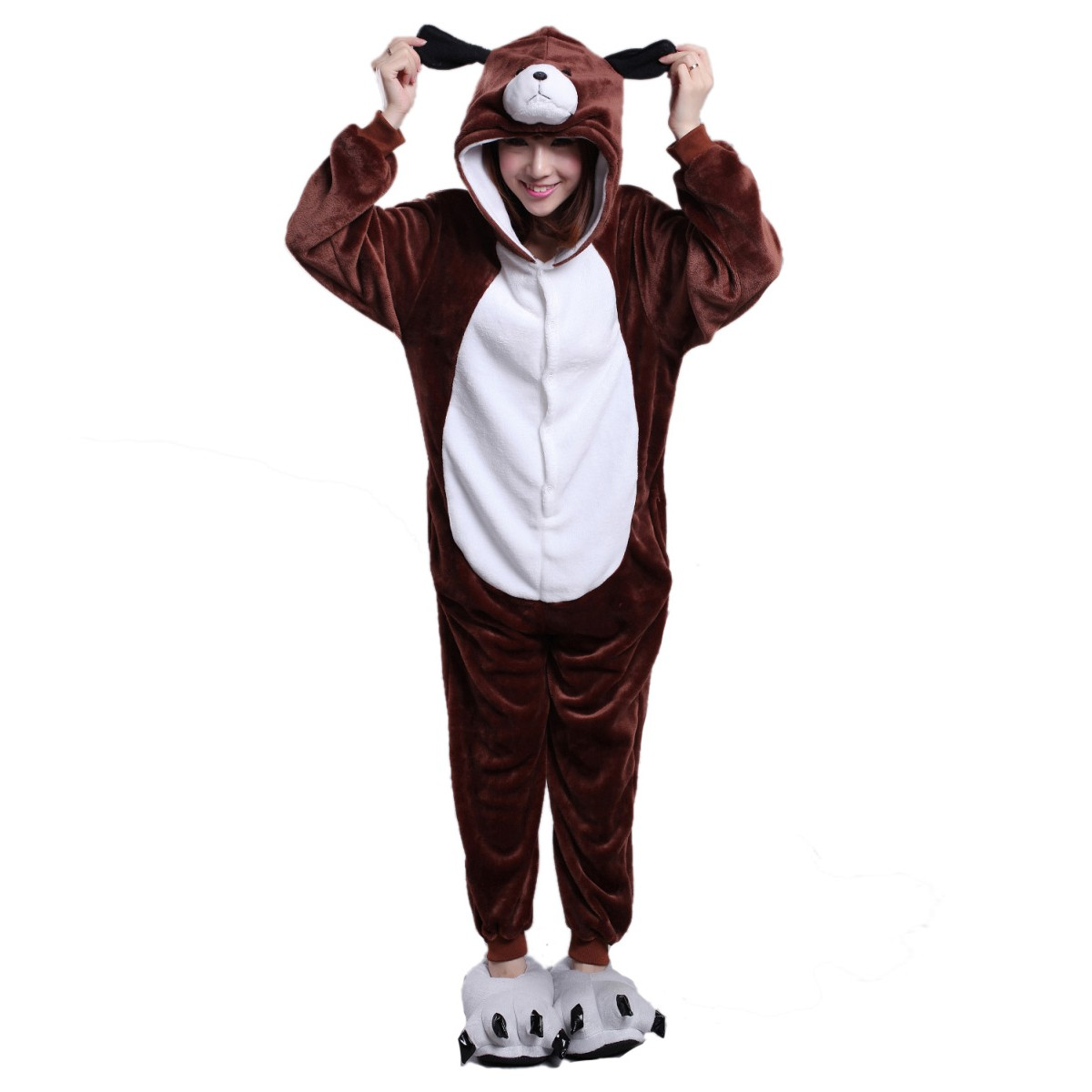 Brown Dog Onesie Brown Dog Pajamas For Adult Buy Now