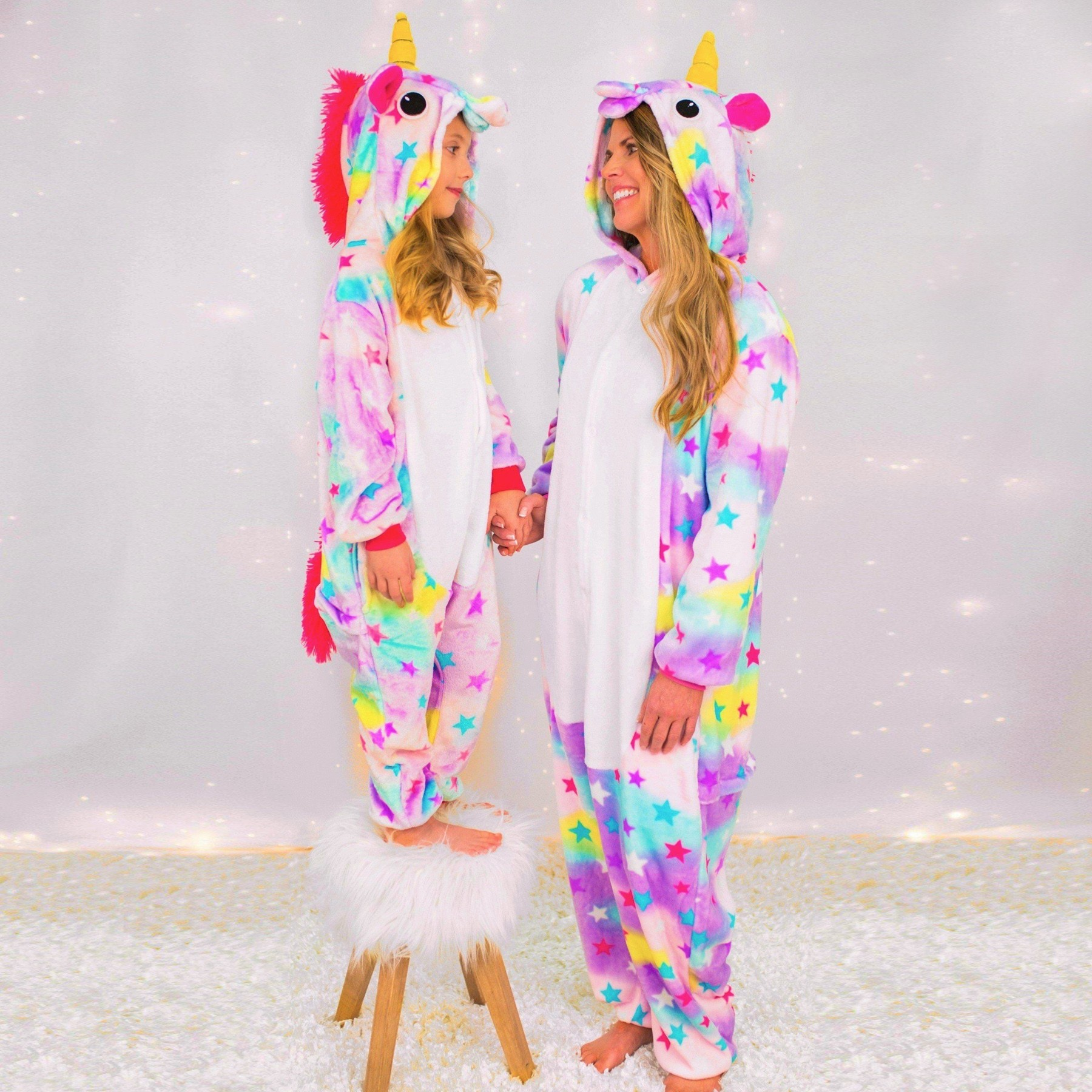 535588bb0090 Mommy   Me Dream Unicorn Pajamas for Mother and Daughter