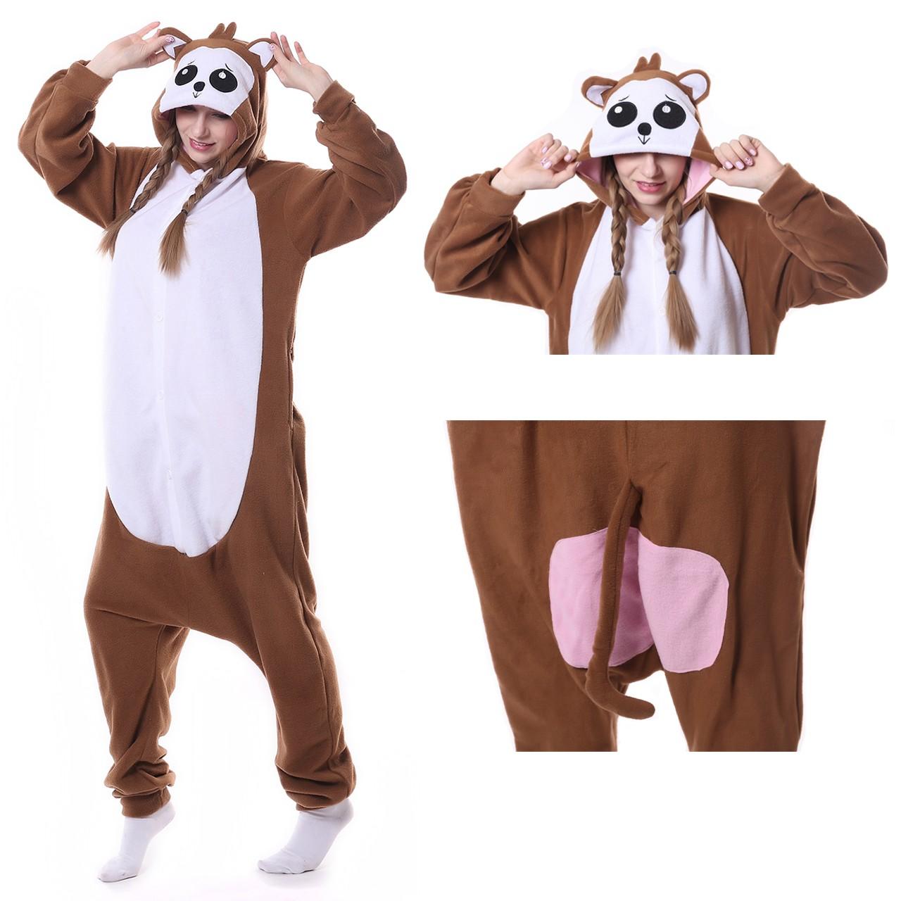 8df61068aa Monkey Onesie Animal Kigurumi Pajama Women   Men Halloween Costumes