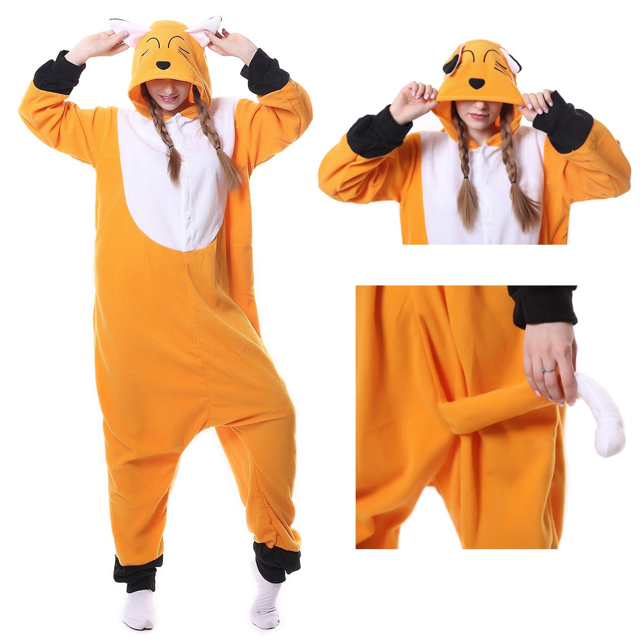 b5862d0ce6 Japanese Red Fox Onesie Kigurumi Animal Pajama Women   Men Halloween  Carnival Costumes