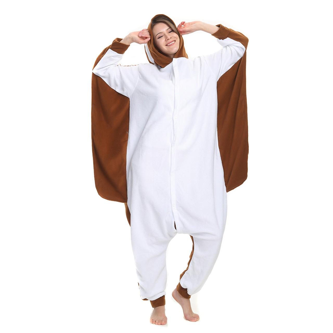 2a3a18320bc0 Flying Squirrel Onesie Animal Kigurumi Pajama Women   Men Halloween Costumes
