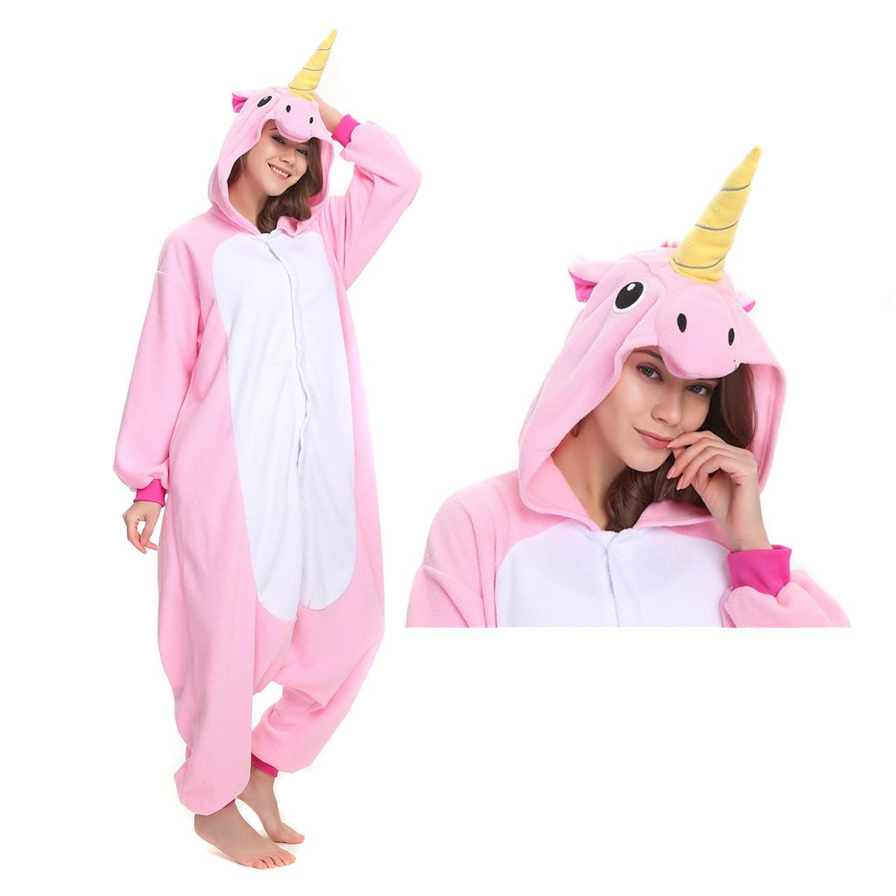 8a9d6cf1ddda Pink Unicorn Onesie for Adult Kigurumi Pajama Party Costumes