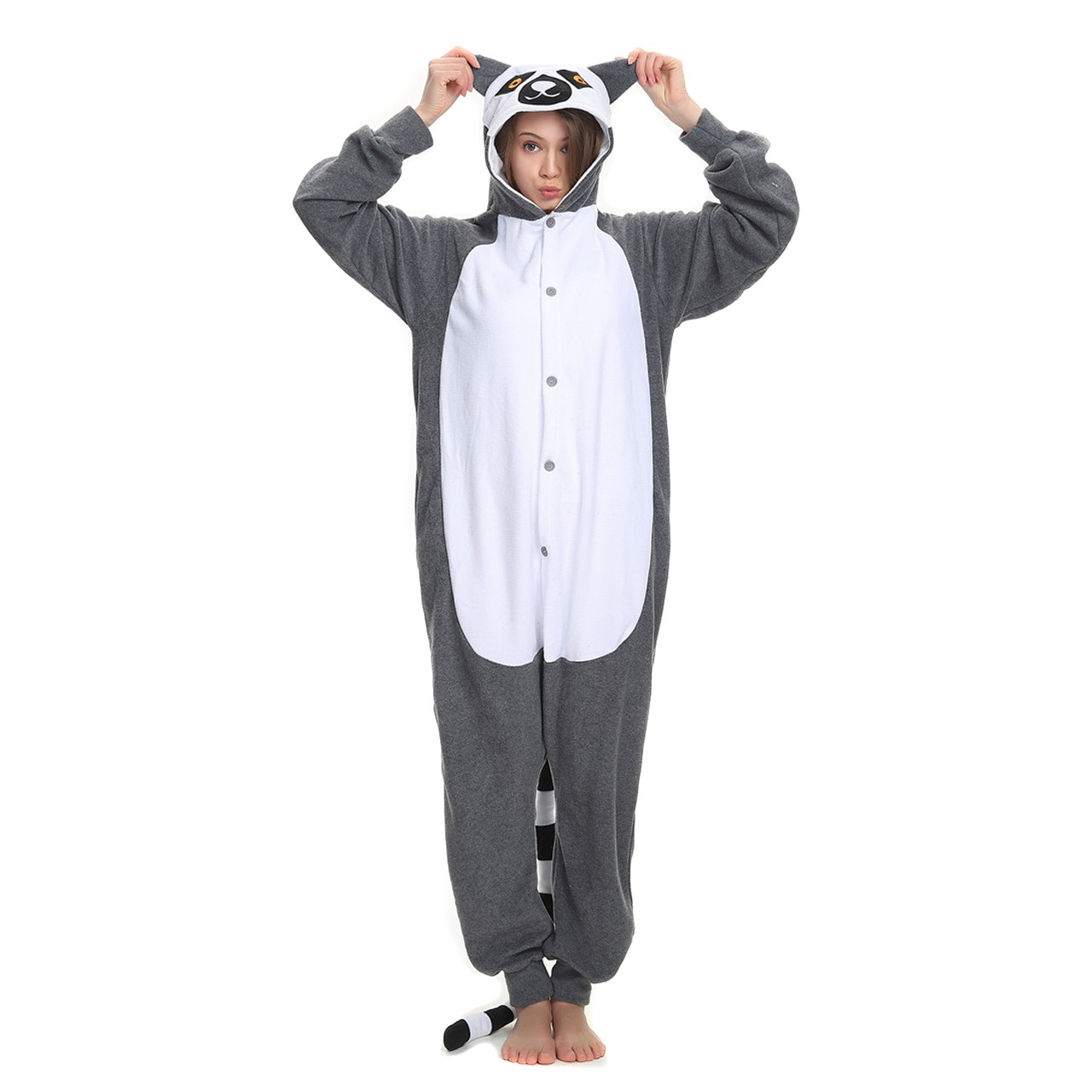 ecde5685741f Lemur Onesie Kigurumi Animal Onesies Women   Men Halloween Costumes