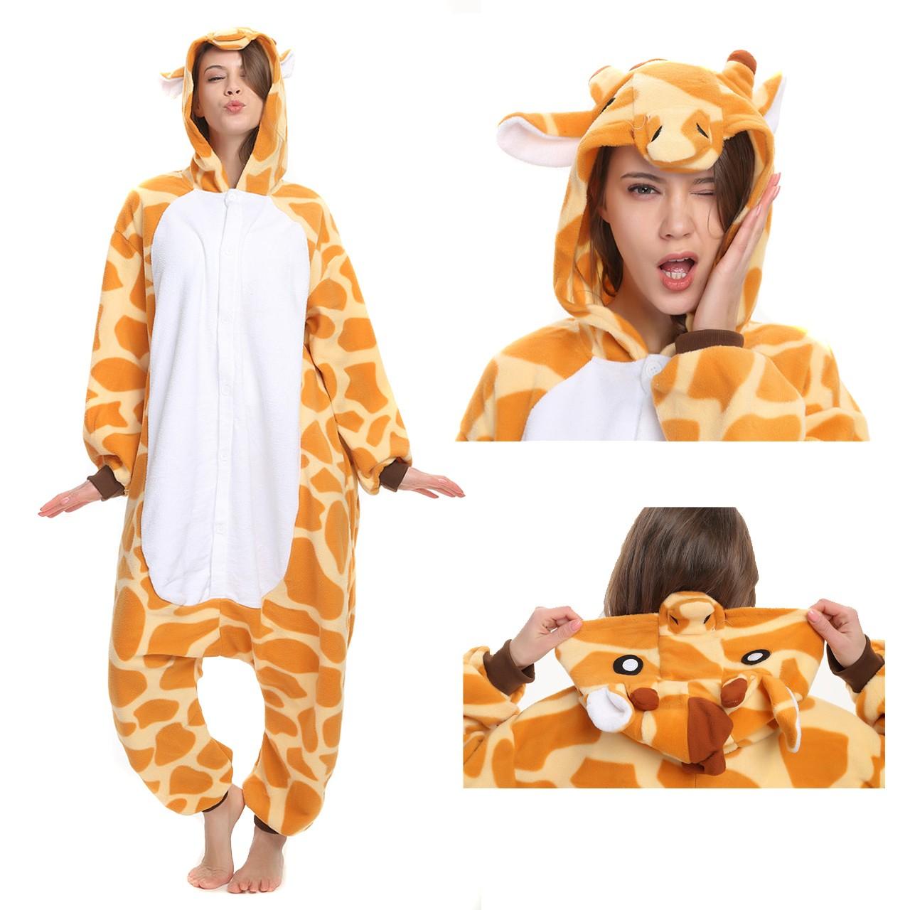 8bc7f1b25f29 Giraffe Onesie Animal Kigurumi Pajama Women   Men Halloween Carnival  Costumes
