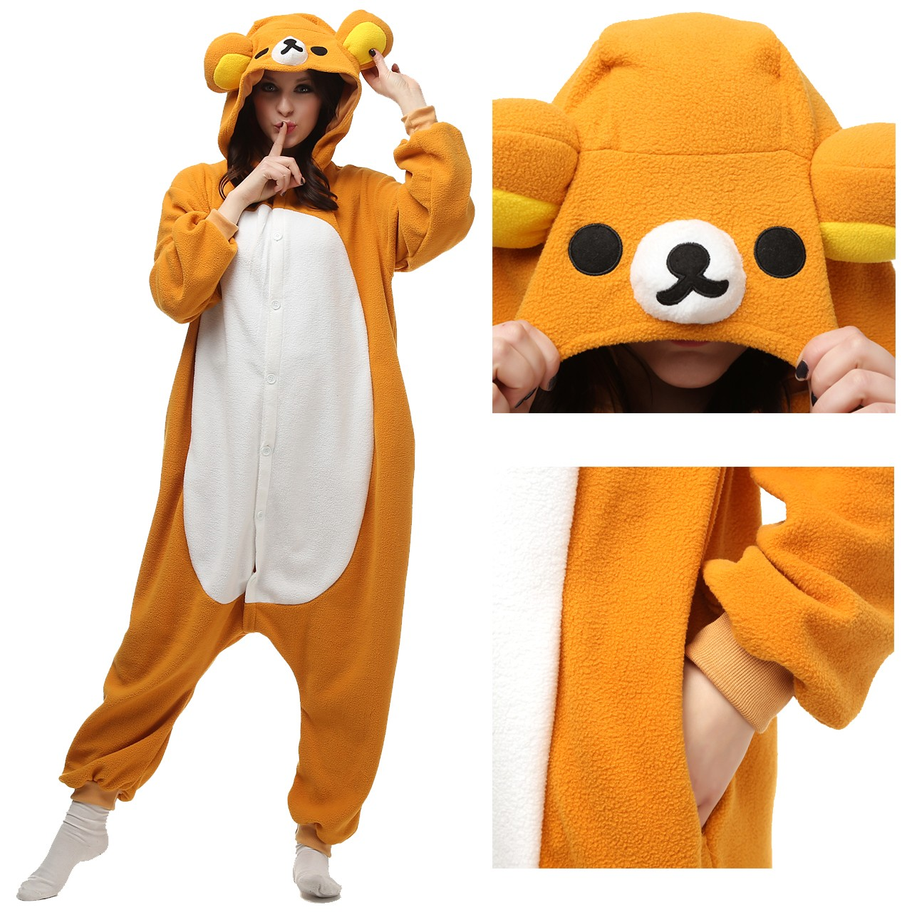 7ee7b505bf Rilakkuma Onesie Kigurumi Animal Unisex Women   Men Pajama Party Costumes