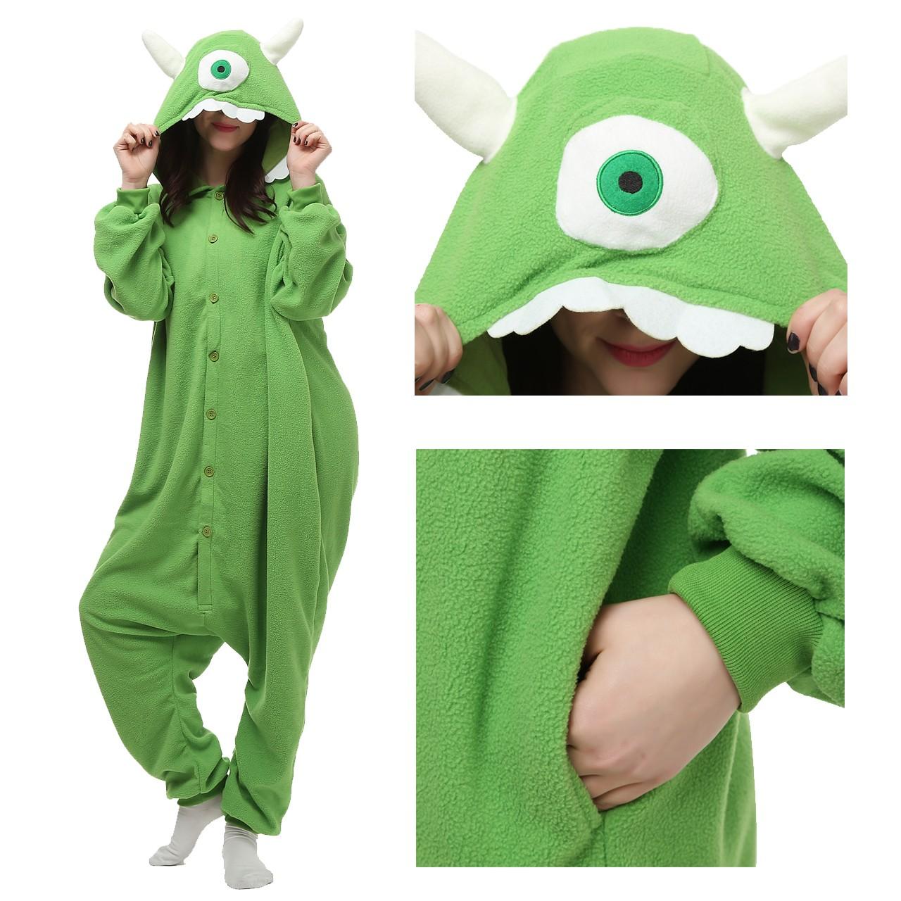 7b3349d6d2f1 One Eyed Monster Onesie Kigurumi Cartoon Pajama for adult Disney Monsters  Inc Costumes