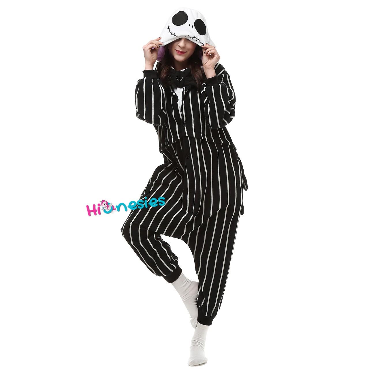 f9d19c5cde Loading ... Jack Skellington Onesie Kigurumi Pajama for Adult Halloween  Carnival Costumes ...