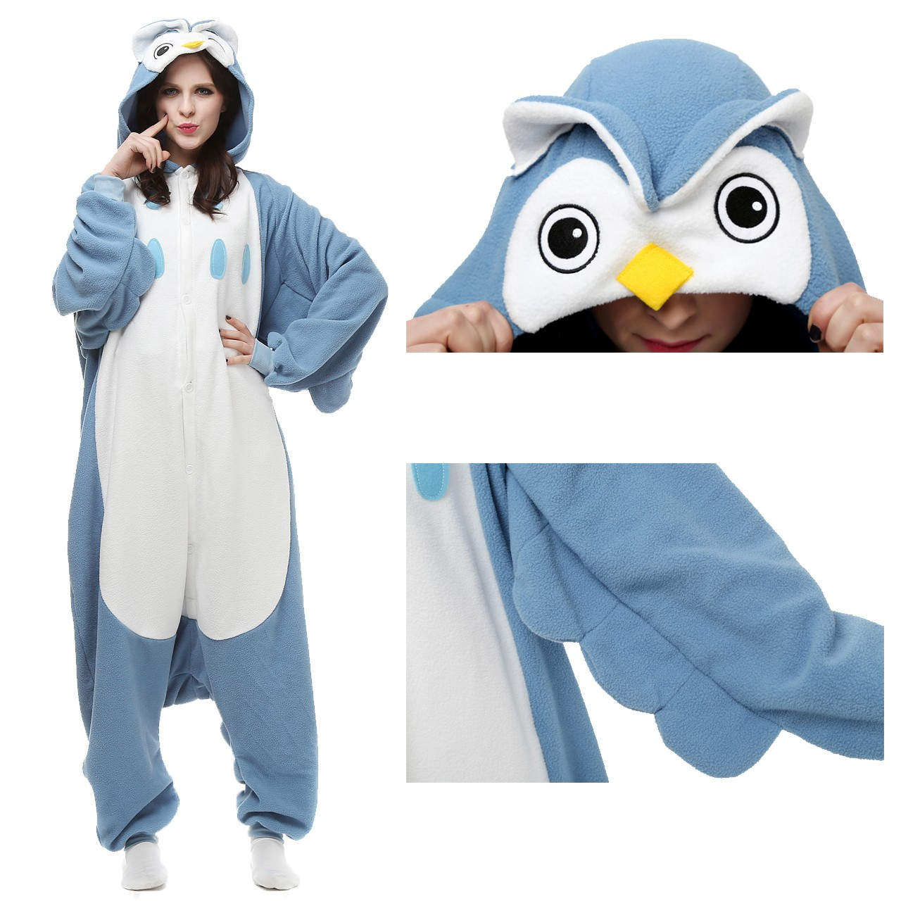 b3d7d5c35568 Owl Onesie Animal Kigurumi Pajama for Adult Halloween Costumes