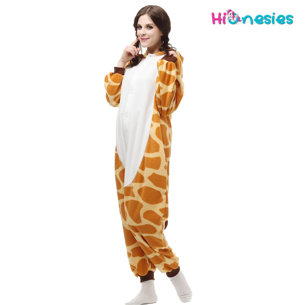Loading ... Giraffe Onesie Animal Pajama Women   Men Kigurumi Halloween  Carnival Costumes ... 2fe577898
