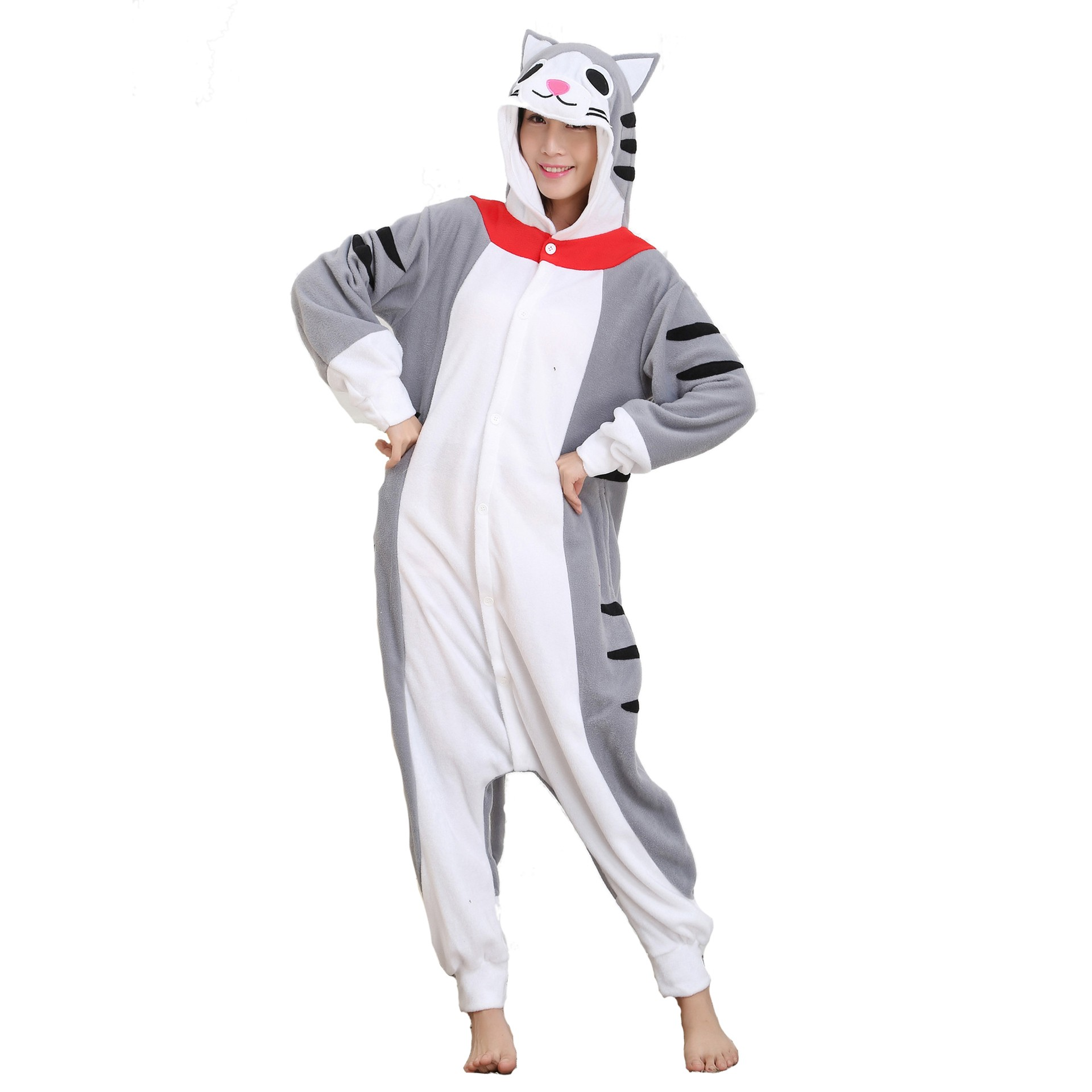Tabby Cat Onesie Unisex Women   Men Animal Kigurumi Pajama Halloween Party  Costumes 68e7ae157