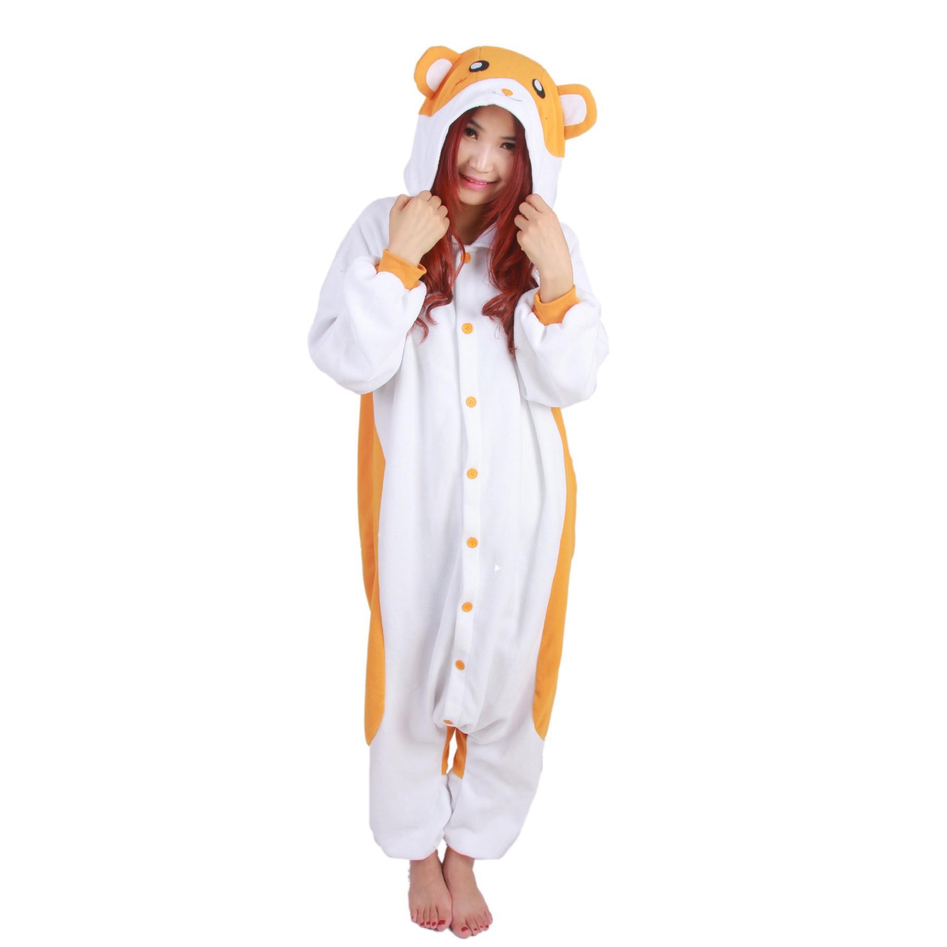 fef764376c10 Hamster Onesie Unisex Women   Men Animal Kigurumi Pajama Halloween Party  Costumes