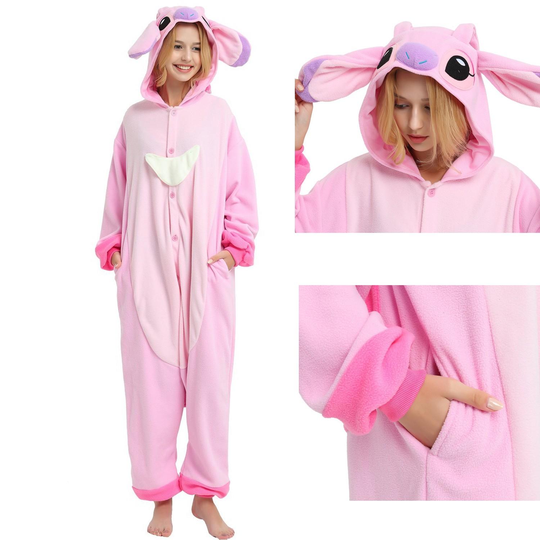Angel Stitch Onesie Unisex Women   Men Disney Kigurumi Pajamas Party Halloween  Costumes bf26831e2