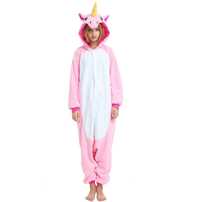 d45c0dbf999c Pink Unicorn Onesie for Adult Kigurumi Animal Pajama