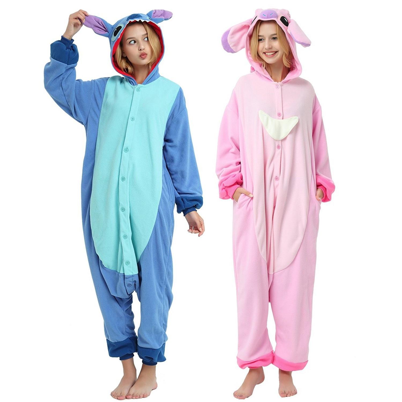 ece166281217 Disney Stitch Onesie Unisex Women   Men Kigurumi Pajama for Adult ...