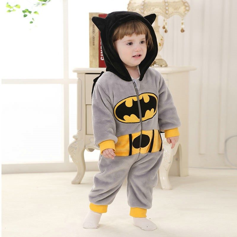 6eda4d8e11b999 Batman Onesie for Baby & Toddler Animal Kigurumi Pajama Party Costumes
