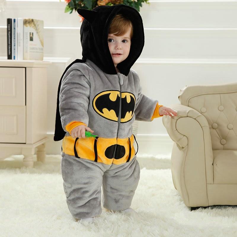 0268fcd4a8a0d4 Batman Onesie for Baby & Toddler Animal Kigurumi Pajama Halloween Costumes