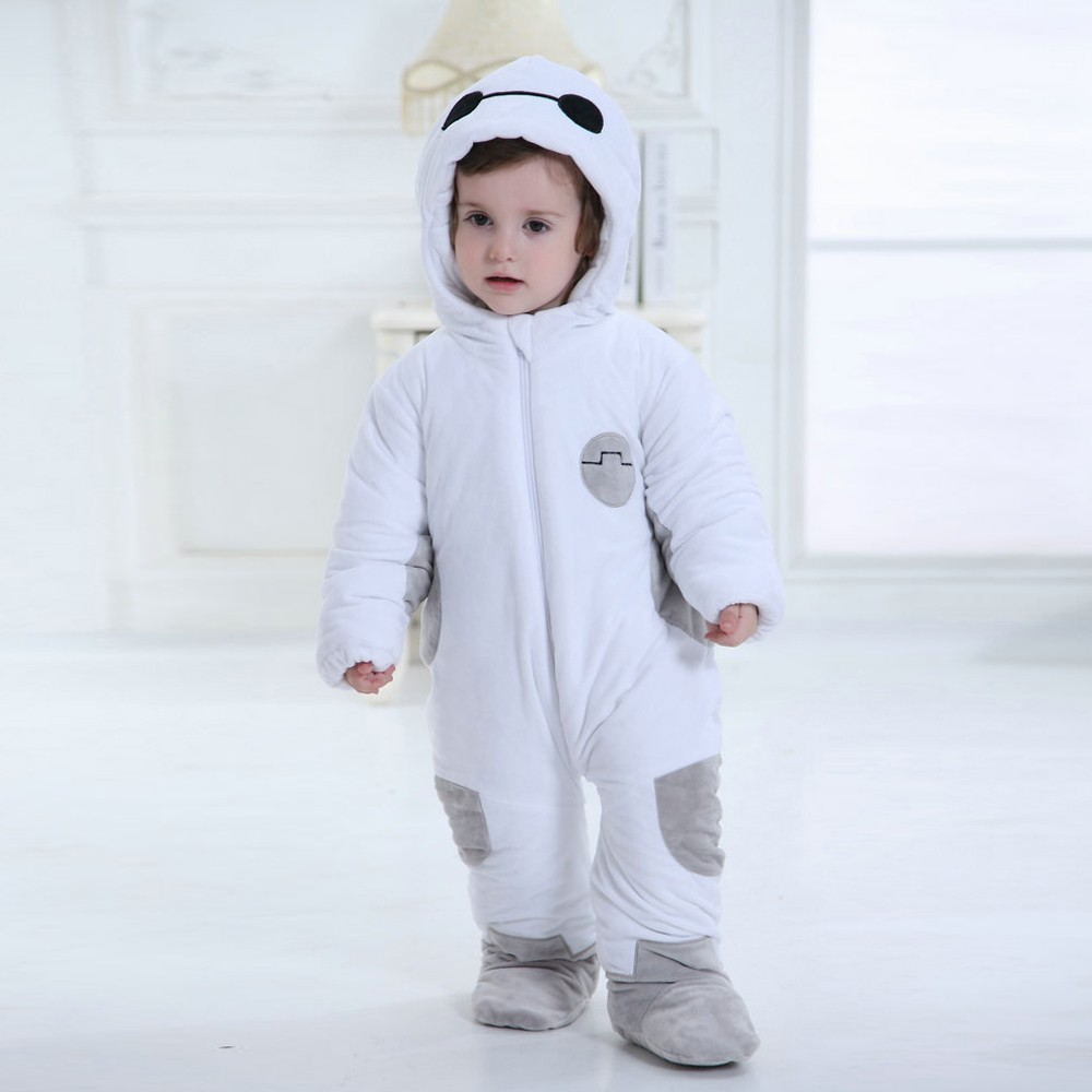 91d6d5443d69 Baymax Onesie for Baby   Toddler Animal Kigurumi Pajama Halloween Costumes