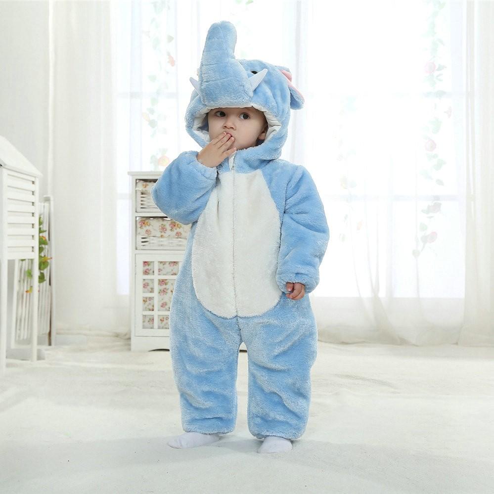 Blue Elephant Onesie For Baby Amp Toddler Animal Kigurumi