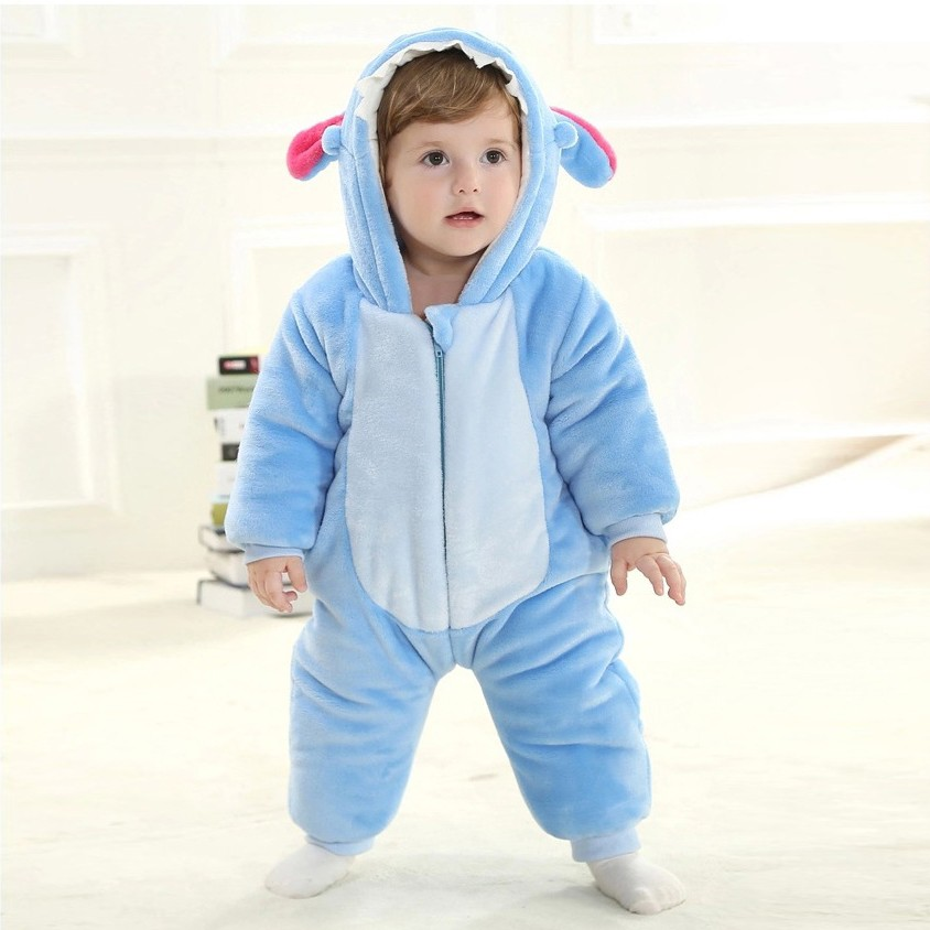 431a60016d Stitch Onesie for Baby   Toddler Animal Kigurumi Disney Pajama Halloween  Costumes