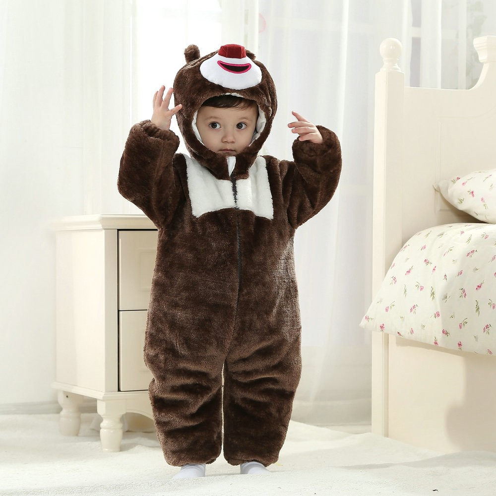 Briar Bear Onesie For Baby Amp Toddler Animal Kigurumi