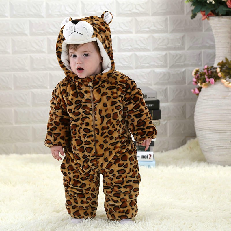 123845ffc Leopard Onesie for Baby & Toddler Animal Kigurumi Pajama Party Costumes