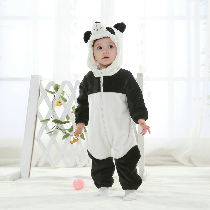 371755d06cf Panda Onesie for Baby & Toddler Animal Kigurumi Pajama Party Costumes