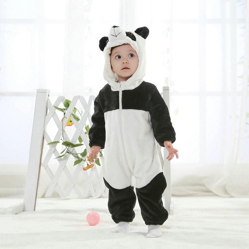 panda onesie for baby toddler animal kigurumi pajama party costumes. Black Bedroom Furniture Sets. Home Design Ideas