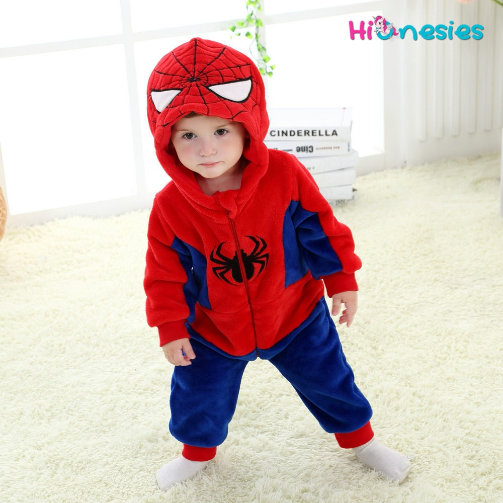 556a9e1e2c7f Spiderman Onesie for Baby   Toddler Kigurumi Pajama Cosplay Party ...