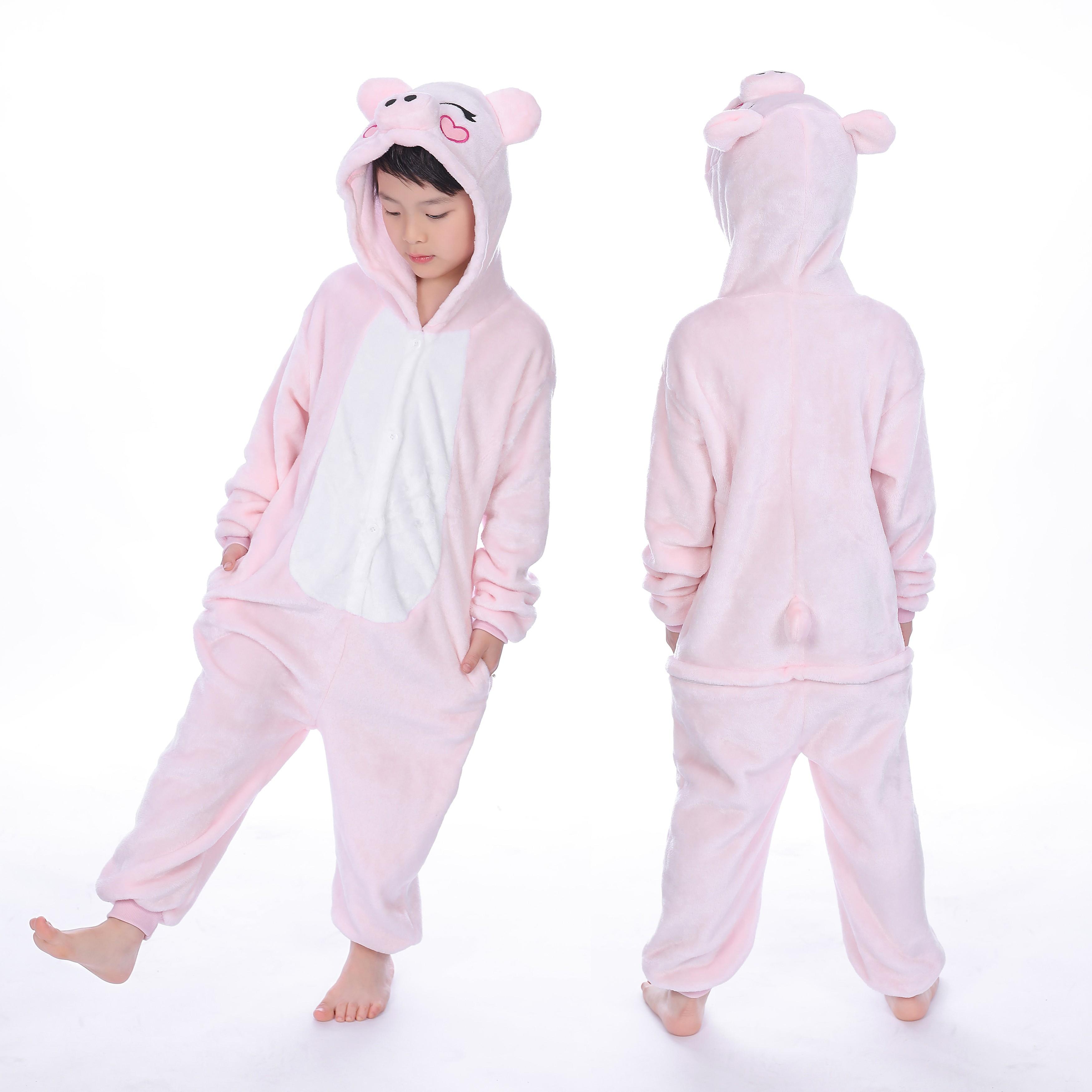70bbee36c3ba Pink Pig Onesie for Kid Animal Kigurumi Pajama Halloween Costumes