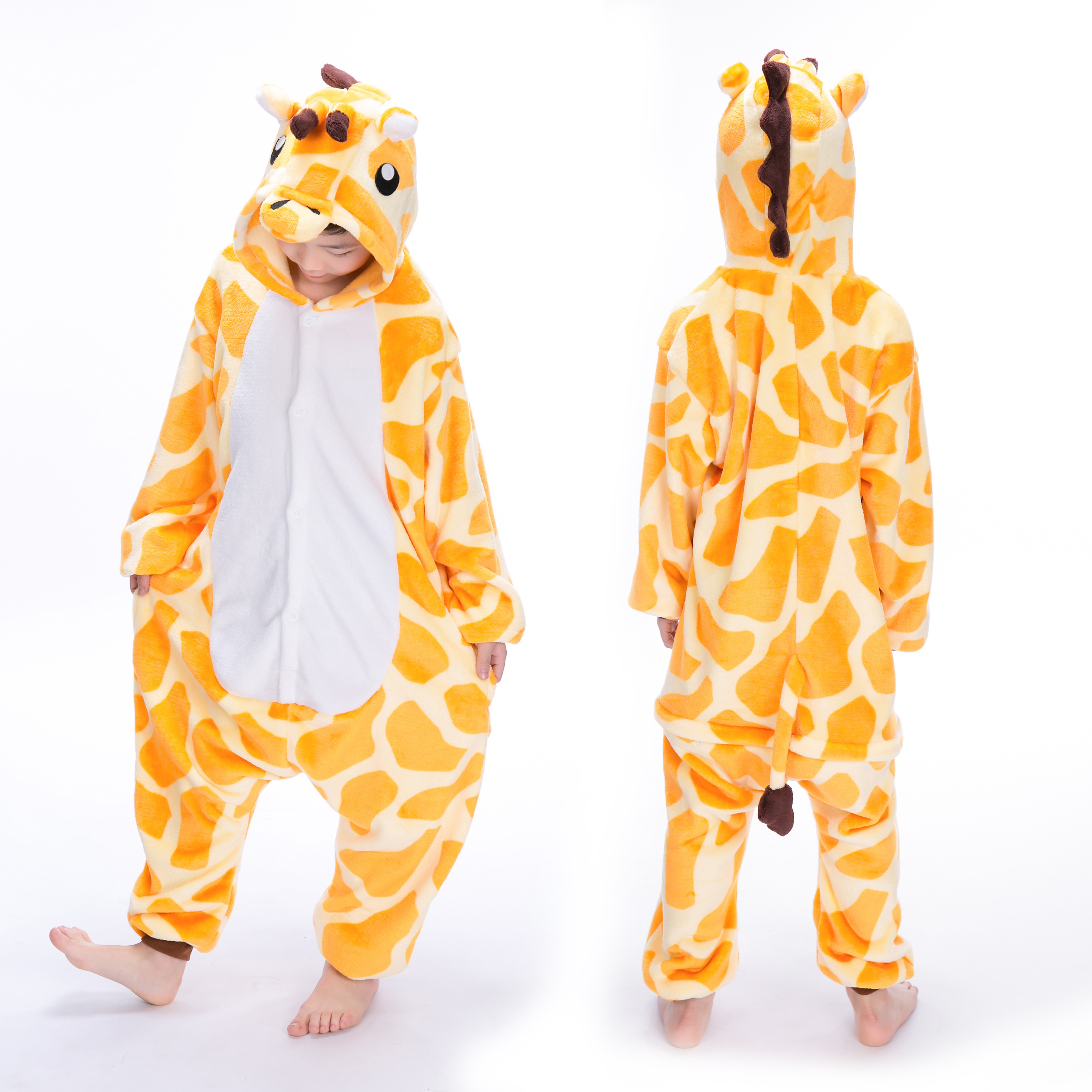 812bd1305054 Giraffe Onesie for Kid Animal Kigurumi Pajama Halloween Costumes