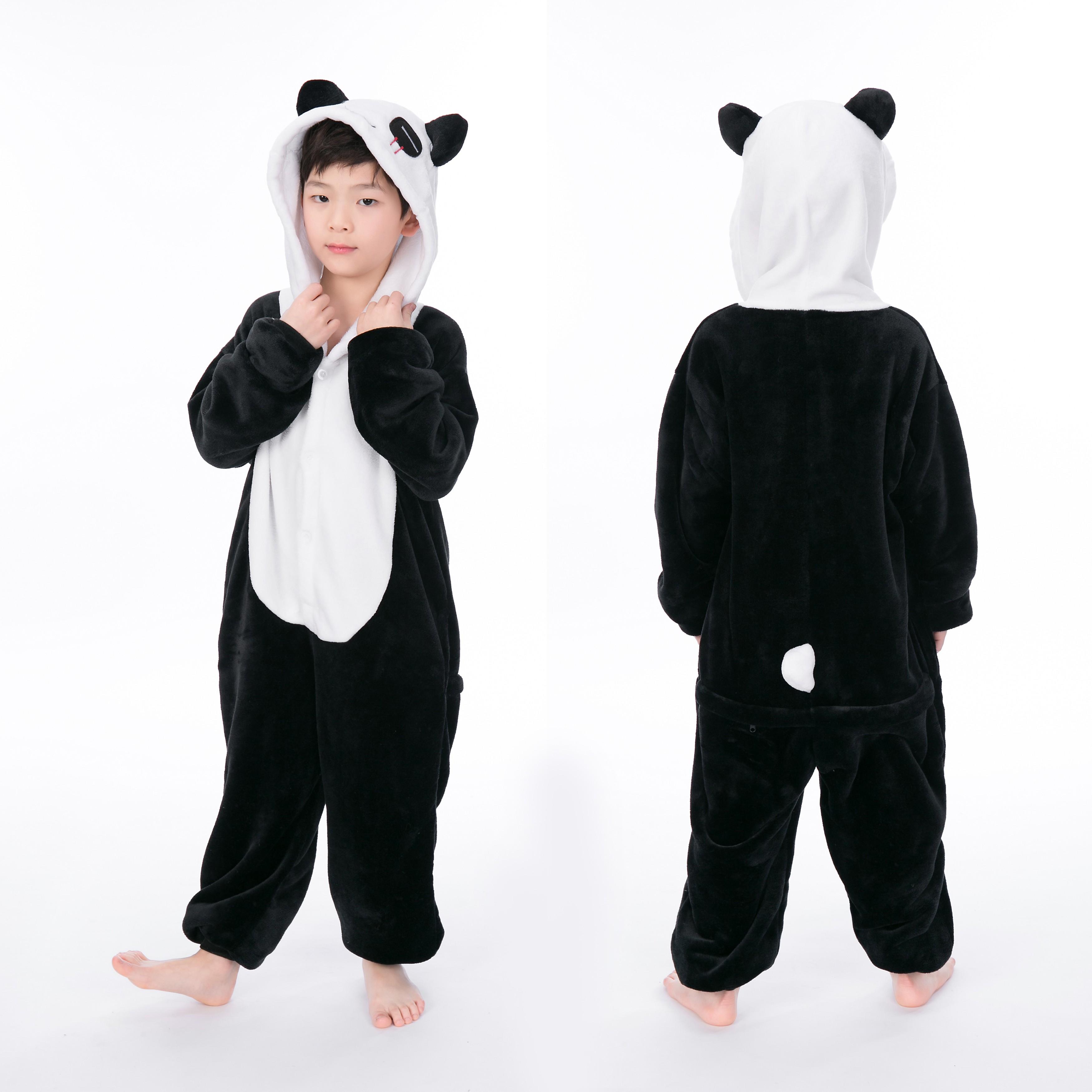 ad56b1777894 Panda Onesie for Kid Animal Kigurumi Pajama Halloween Party Costumes
