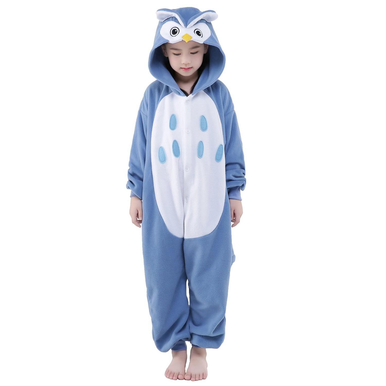 746804a14119 Owl Onesie for Kid Animal Kigurumi Pajama Halloween Costumes