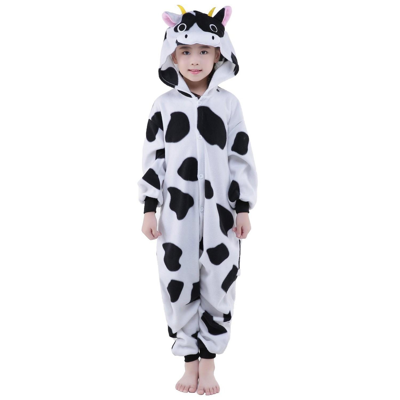 Cow Onesie For Kid Animal Kigurumi Pajama Party Costumes