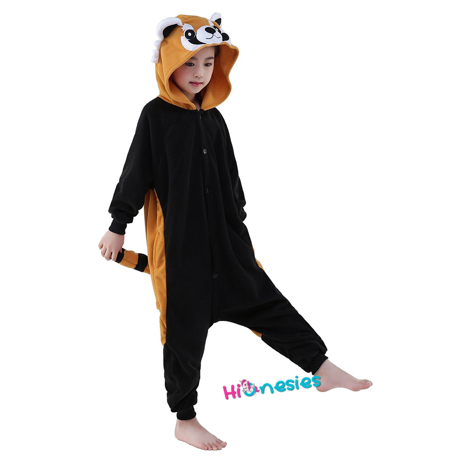 Image of: Amazon Loading The Panda Haus Red Panda Onesie For Kid Animal Kigurumi Pajama Party Costumes