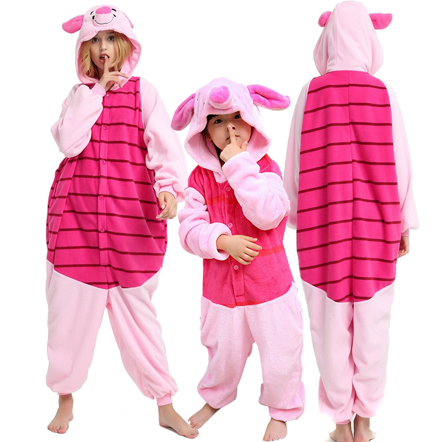 b3969804e691 Pig Onesie for Women   Kids Winnie the Pooh Piglet Onesie Party Halloween  Costumes