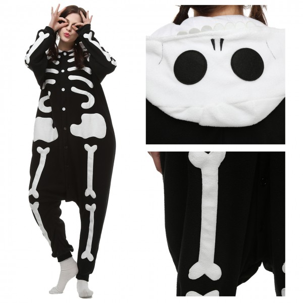 Skeleton Onesie Unisex Women & Men Kigurumi Pajama Carnival Costumes