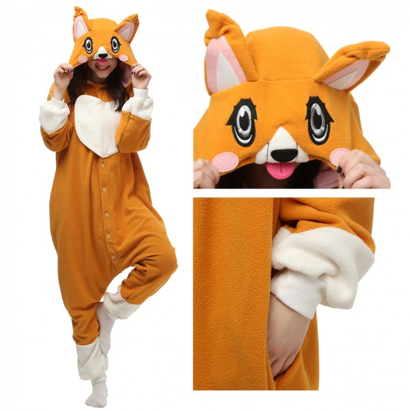 Corgi dog Onesie Animal Kigurumi Pajama Women & Men Party Costumes