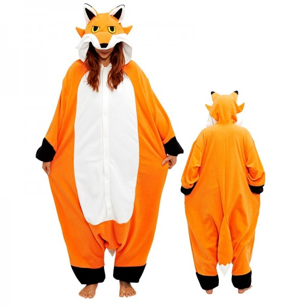 Mister Fox Onesie Unisex Women & Men Animal Kigurumi Pajama Halloween Party Costumes