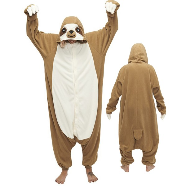 Sloth Onesie Unisex Women & Men Animal Pajamas Kigurumi Halloween Costumes