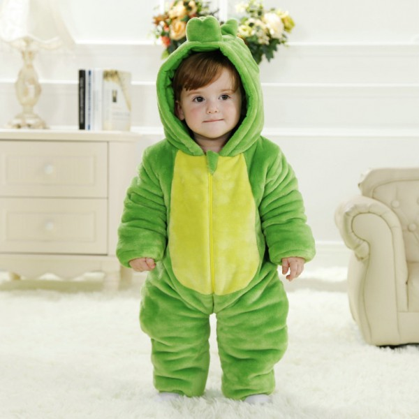 Green Dinosaur Onesie for Baby & Toddler Animal Kigurumi Pajama Party Costumes