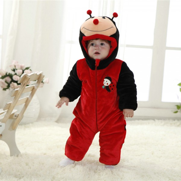 Ladybug Onesie for Baby & Toddler Animal Kigurumi Pajama Party Costumes