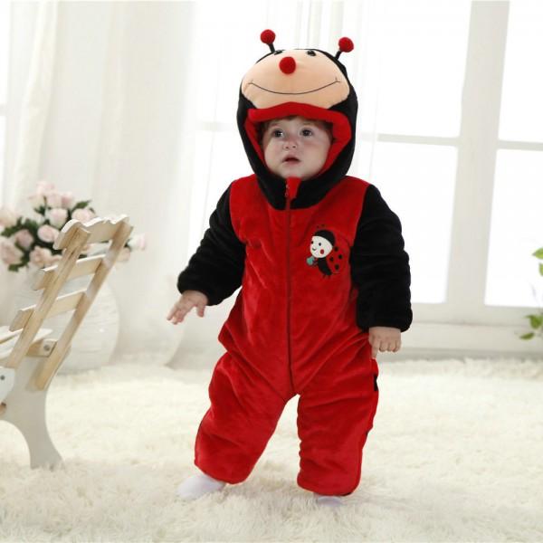 Ladybug Onesie for Baby & Toddler Animal Kigurumi Pajama Party Costumes